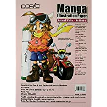"""Copic Markers 8.3"""" by 11.7-Inch Manga Nat White, 30 Sheets"""