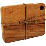 Ironwood Gourmet, Acacia Wood, Set of 2, 7.75-inch by 6-inch by .5-inch Sandwich Boards