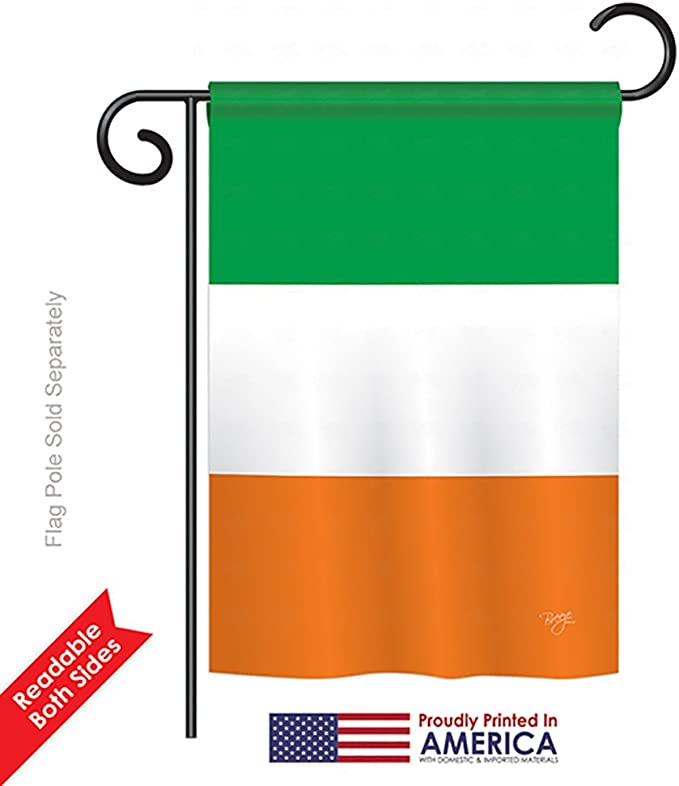 Breeze Decor Ireland Country Flags Of The World Everyday Impressions Decorative Vertical Garden Flag 13 X 18 5 Printed In Usa Garden Outdoor