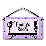 Girls Gymnastics Personalised Door Sign for Kids