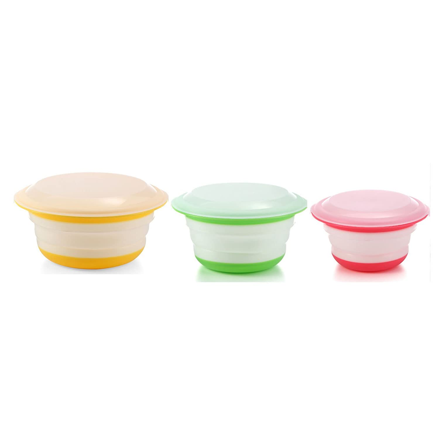 Neeshow Silicone Collapsible Storage Bowls With Lids Set