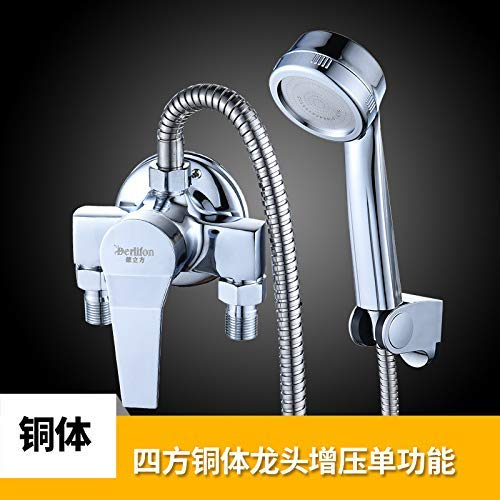 A SEBAS HOME Mixing water valve????hot and cold faucet bathroom bathroom wall mounted mixing valve shower faucet switch hot and cold faucet shower, [three links] copper body faucet five block shower set