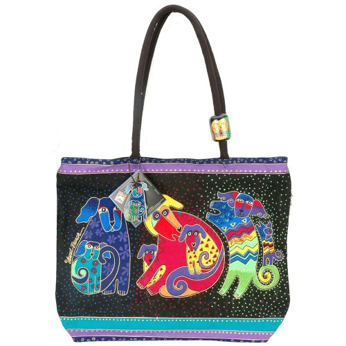 - Laurel Burch Shoulder Zipper Top, Dogs and Doggies