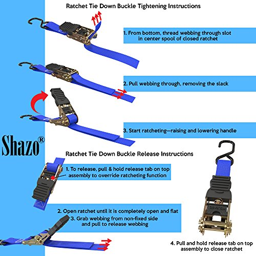 Amazon Extra Long Ratchet Tie Down Straps 20 Ft 4 Pk 1500 Lbs