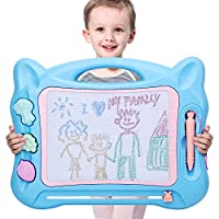 KINGSDRAGON Magnetic Drawing Board Large Erasable Writing Painting Sketch Pad Portable Magna Doodle Board Educational Learning Toy for Kids Toddler Boys Girls Birthday Gift