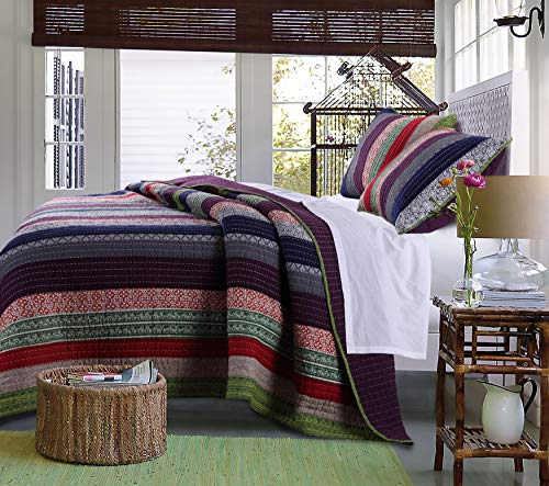 Greenland Home Marley Quilt Set, King/Cal King, Carnival