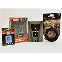 Bushnell Trophy Cam 119875C Trail Camera   Camlockbox   8 GB Card   Python Cable