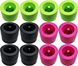 Set of 12 Magnetic Paper Clip Holders! Green, Black and Hot Pink! Hot Colors Perfect for Any Desk or Office Style! (12)