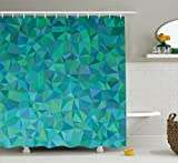 Makeover your bathroom with just a single touch! Start with these fun and decorative shower curtains. SIZE: 75 INCHES LONG and 69 INCHES WIDE. Our unique & modern designs match well with various color palettes of towels, rugs, bathroom mats and a...
