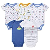 Gprince 5PCS Baby Cotton Short-Sleeve Triangle Romper Stylish Jumpsuits Christmas New Year Gift