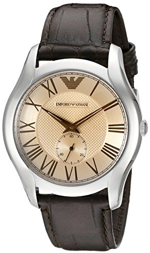 Emporio-Armani-Mens-AR1704-Dress-Brown-Leather-Watch