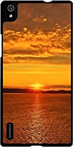 Funda para Huawei Ascend P7 - Puesta De Sol Salida Del Sol by WonderfulDreamPicture