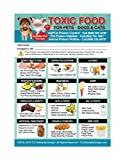 """Enhanced Toxic Foods TRADEMARKED Poison for Pets Dogs Cats Emergency Home Alone 5"""" x 7"""" Veterinarian Approved Refrigerator Safety Magnet (Qty. 1)"""