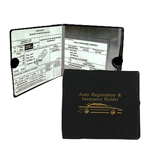 Sterling Auto Car Insurance Registration Holders 2 Pack Automobile  Trailer  Truck Etc  A Must To Have  Velcro Closure  2 Pieces Perfect For Organizing Glove Compartment