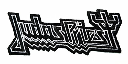 Diy Priest Costume (Black Judas priest Music Band Heavy Metal Punk Rock Logo iron on sew on patch Jacket T Shirt Patch Sew Iron on Embroidered Symbol Badge Cloth Sign Costume)
