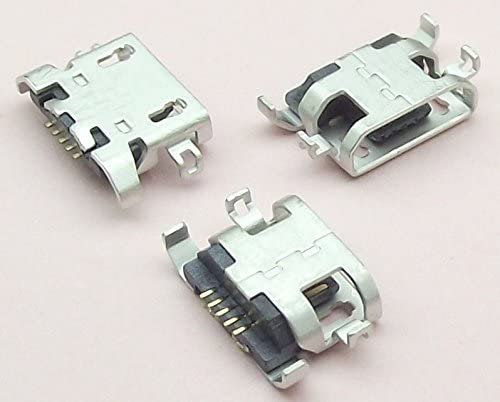 Davitu 50pcs Micro USB 5pin heavy plate 1.28mm no side Flat mouth without curling side Female Connector For Mobile Phone Mini USB Jack