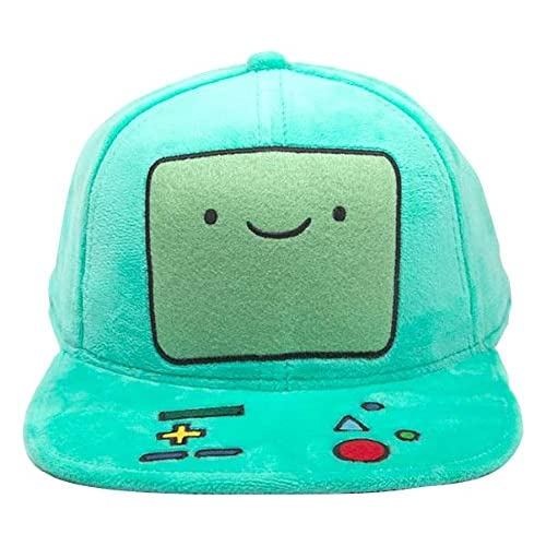 Adventure Time - Casquette snapback baseball peluche BMO Beemo - Turquoise