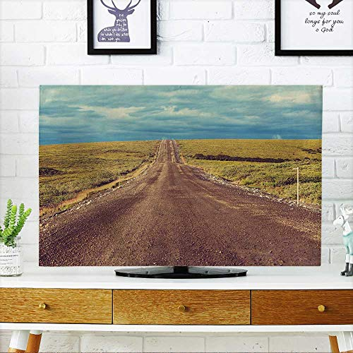 PRUNUS Cord Cover for Wall Mounted tv Tundra Landscapes Above Arctic Circle Cover Mounted tv W35 x H55 INCH/TV 60
