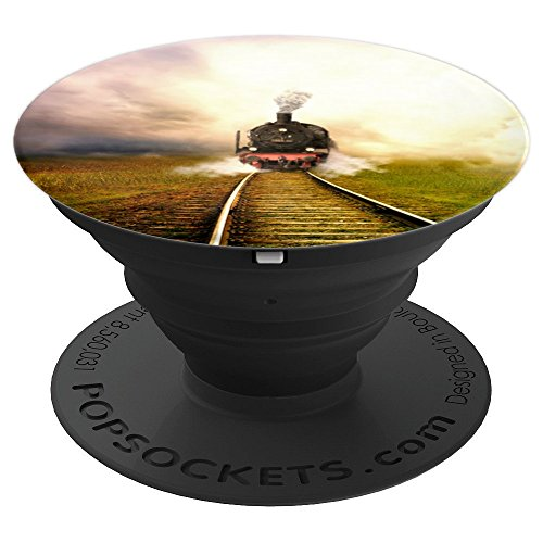Steam Locomotive Train - PopSockets Grip and Stand for Phones and Tablets (Locomotive Telephone)