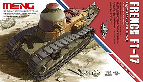(Meng TS-008 French FT-17 Light Tank w/Cast Turret 1/35 Scale Model Kit)
