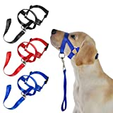 Afco Dog Head Collar Halter,Soft Nylon Training Mouth Cage Anti Bite Chew Safety Mask for Pet Dog Size M (Black)