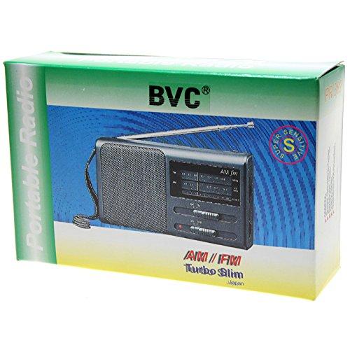 Radio portátil AM/FM con altavoz incorporado, entrada de auricular, Antena telescópica, 3AA, Negro: Amazon.es: Electrónica