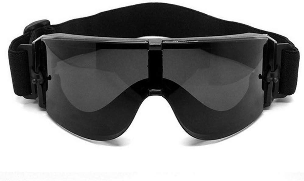 Queenaal Gafas Militares Gafas t/ácticas X800 Gafas de Sol Gafas Protecci/ón Ocular Negro