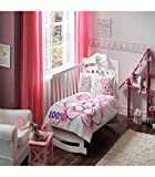 Baby Girl Nursery Duvet Cover Set - 100% Cotton - 4 pieces Lola %100 Sweet Girl's Themed Made in Turkey