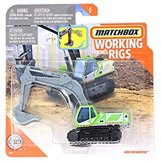 Matchbox Working Rigs MBX Excavator, Green
