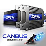 OPT7 Boltzen AC CANbus HID Kit - 5x Brighter - 6x Longer Life - All Bulb Sizes and Colors - 2 Yr Warranty - 9012 (10000K Deep Blue Xenon Light)