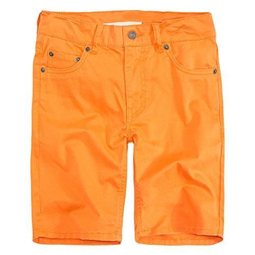 (Levi's Boys' Toddler 511 Slim Fit Soft Brushed Shorts, Orange Peel, 2T )
