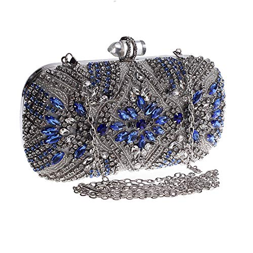 Ofgcfbvxd Women's Handbag studded Purse Diamond Bag Clutch Evening Ladies Wedding wPqw56