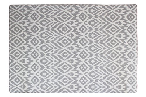 baby play mat | one-piece reversible foam mat | eco-friendly | 6.5ft x 4.5ft (grey) by wander & roam