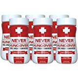 Hangover Prevention Drink Formula - Never Too Hungover Prevention w/Electrolytes for Rehydration, B Vitamins for Energy & Nutrient Replenishment to Help Avoid Hangovers - 6 Pack - 3.4 Oz Bottles