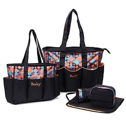 Bolsa de Pañales – 5 piezas bolsas de pañales, diseño de lunares resistente al agua