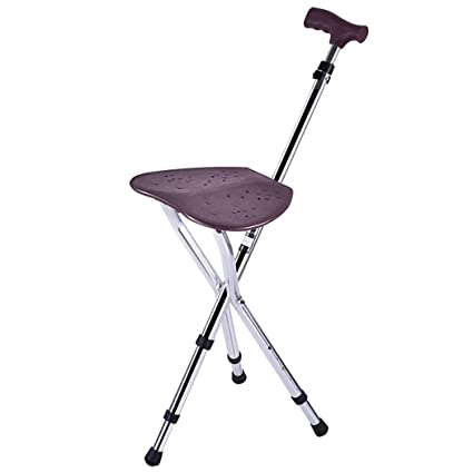 Admirable Amazon Com Zjfsx Cane Seat Folding For Elderly Stool Caraccident5 Cool Chair Designs And Ideas Caraccident5Info