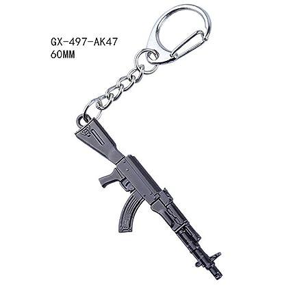 KJHKJH Juego Pubg CS Go Arma Llaveros Mk14 Pistola Modelo ...