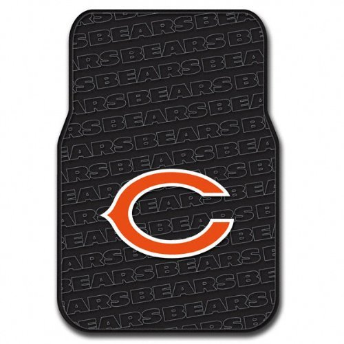 Officially Licensed NFL Chicago Bears Auto Front Floor Mat, 2-Pack (Mlb Floor Mat Rubber)