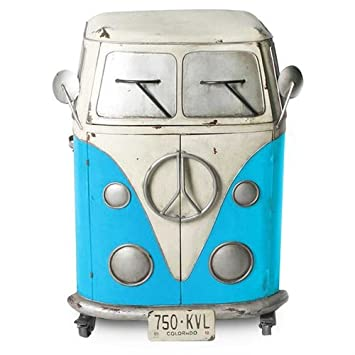 art deco meuble fourgonnette bleu 80x60 cm