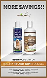 Bacon Flavor Cod Liver Fish Oil for Dogs and Cats - Wild Caught Omega 3 Fish Oil For Dogs - More Nutrition Than Other Dog Fish Oil! High in EPA and DHA Vitamins A&D, 16fl.oz(473ml)