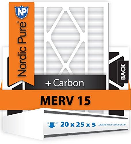 Nordic Pure 20x25x5ABM15+C-1 Merv 15 Plus Carbon Air Bear Replacement