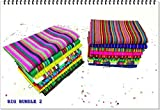 NEW colorful, Mexican napkins for a fun Mexican themed party! This napkins are made from a soft, woven fabric with unique tribal style designs. Color: Blue, red, pink yellow with tribal designs. 20 Half yards Different colors and Patterns. Wi...