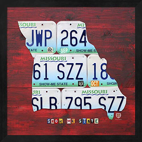 - Missouri by Design Turnpike Fine Art Print with Wood Box Frame and Glass Cover, 15 x 15 inches