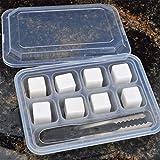 Whisky Stones, 8Pcs Set Ceramic Quick Freezing Whiskey Rock Beer Stones Wine Cube Body