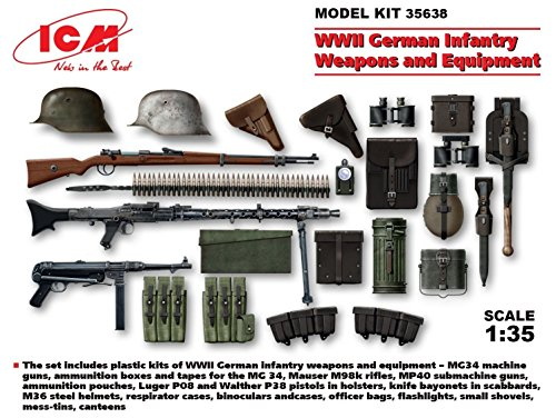 - WWII German Infantry Weapons and Equipment 1/35 ICM 35638 /item# G4W8B-48Q47166
