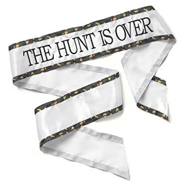 Hortense B. Hewitt Wedding Accessories Sash, Brown Camo Hunt is Over