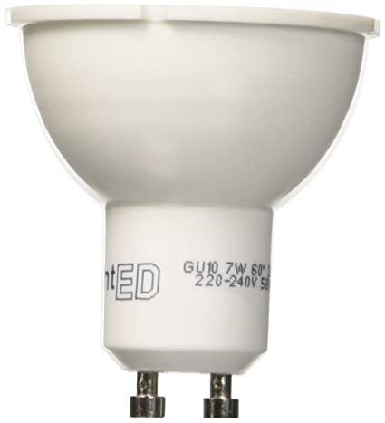 LightED Bombilla LED, 3000 K GU10, 7 W, Blanco 50 x 55 mm