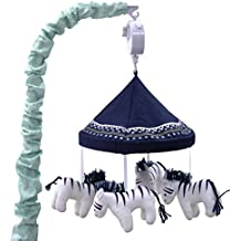Zebra Musical Mobile - From the Indio Crib Collection by The Peanut Shell