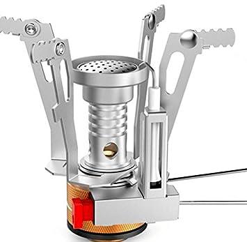 Stove Estufa portátil campamento cocina Mini acero estufa accesorios: Amazon.es: Informática