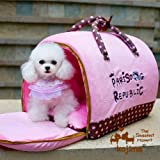 Portable Pet Bed Deluxe Dog Travel Bag Dual-use, 14″x8″x11″ (Pink) Review